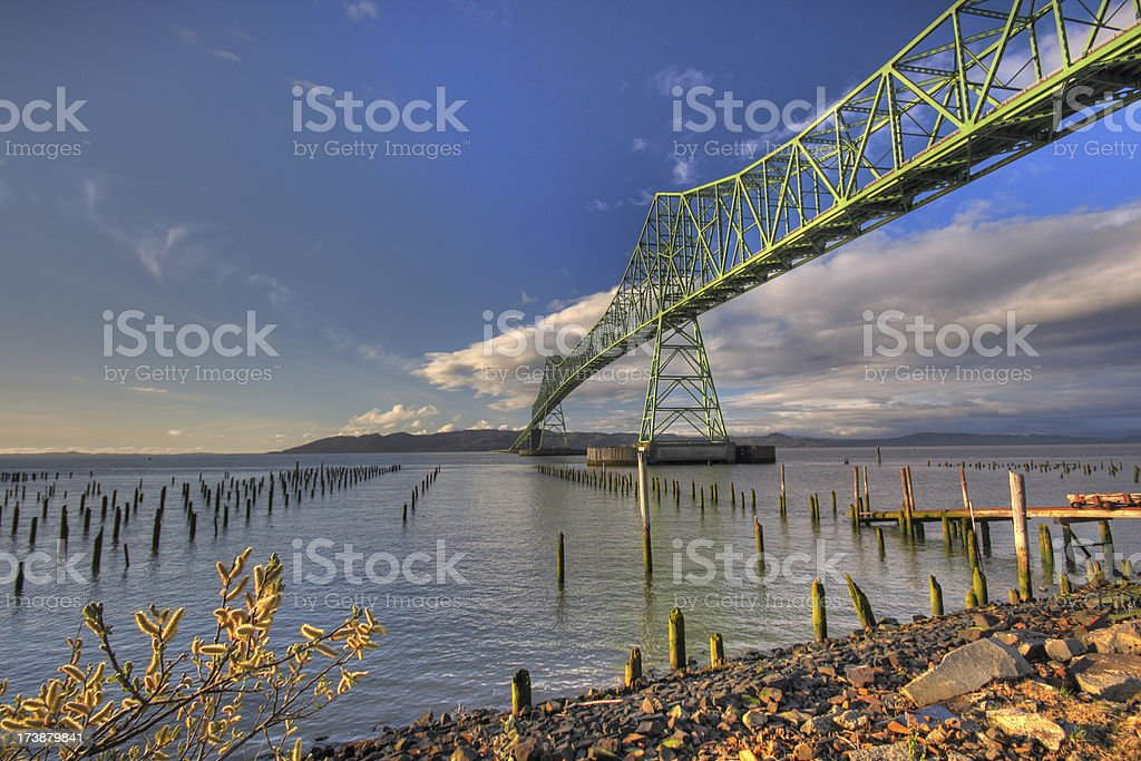 Astoria Megler Bridge stock photo