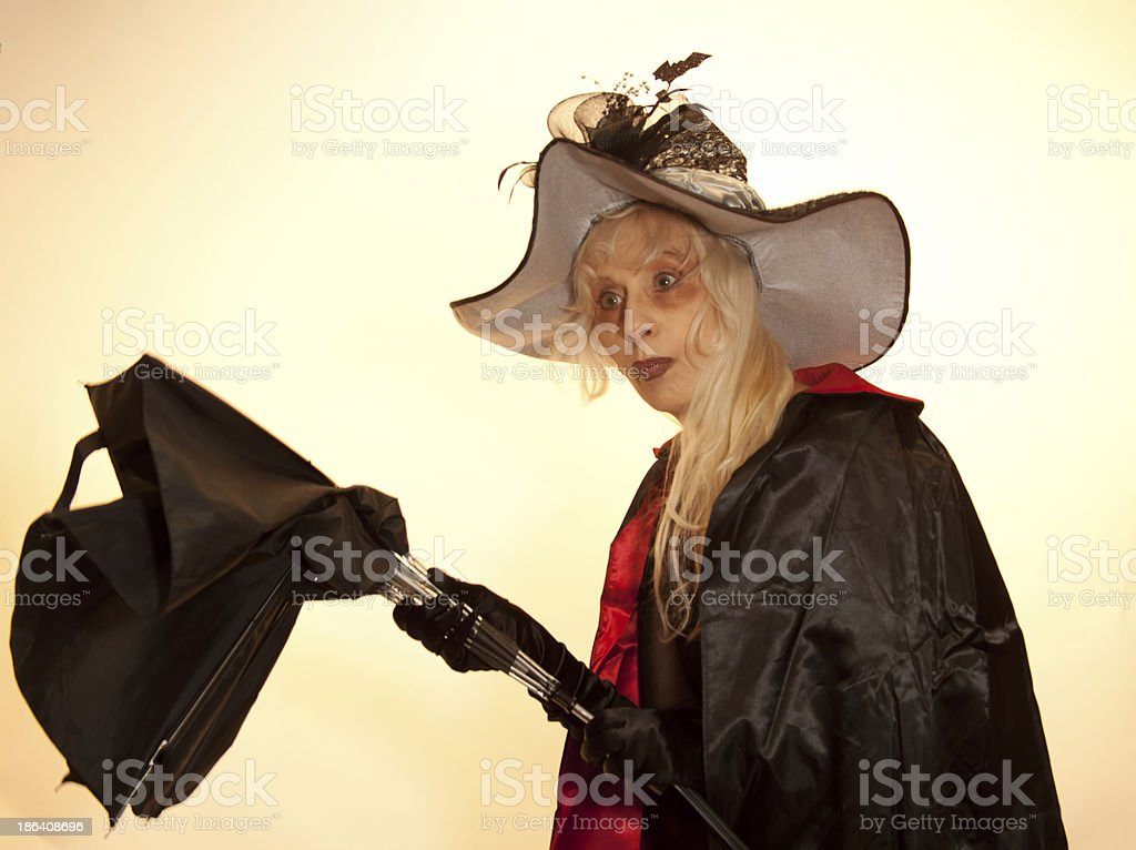 Astounded Witch stock photo