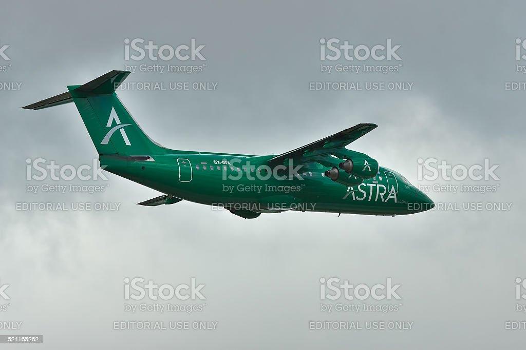Astra Airlines BAe 146 Avro RJ stock photo