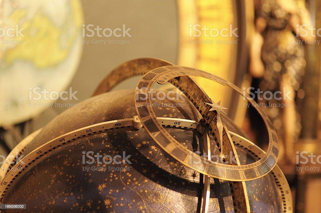 Astrolabe on Strasbourg astronomical clock royalty-free stock photo