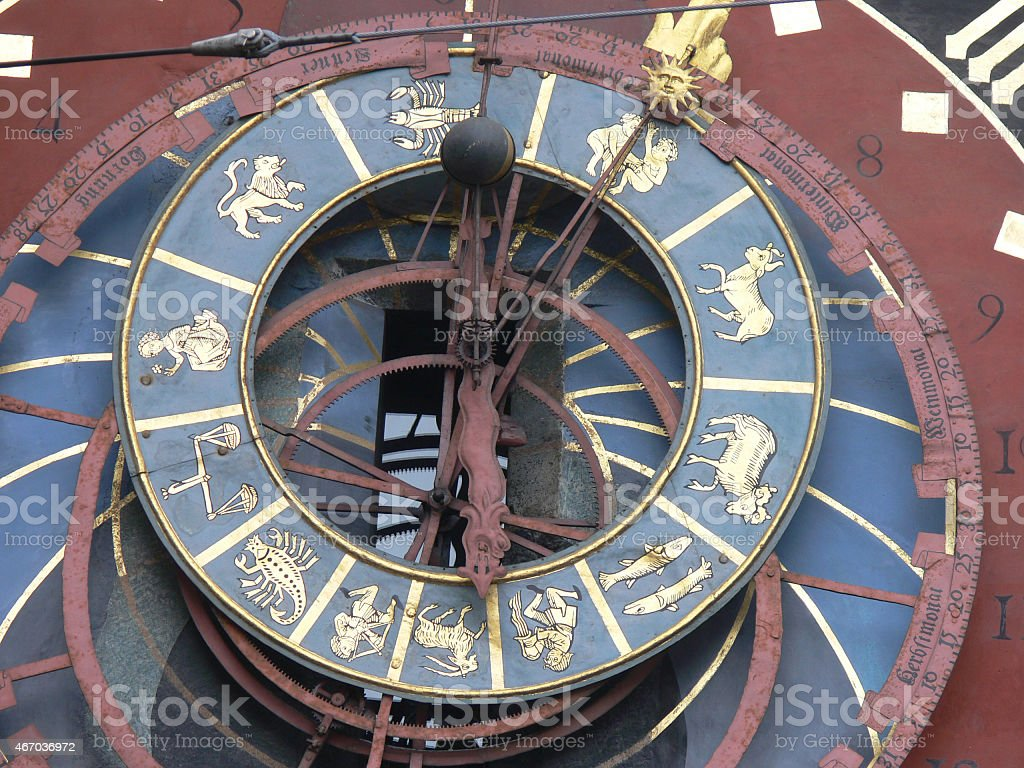 Astrological clock Berne,Switzerland stock photo