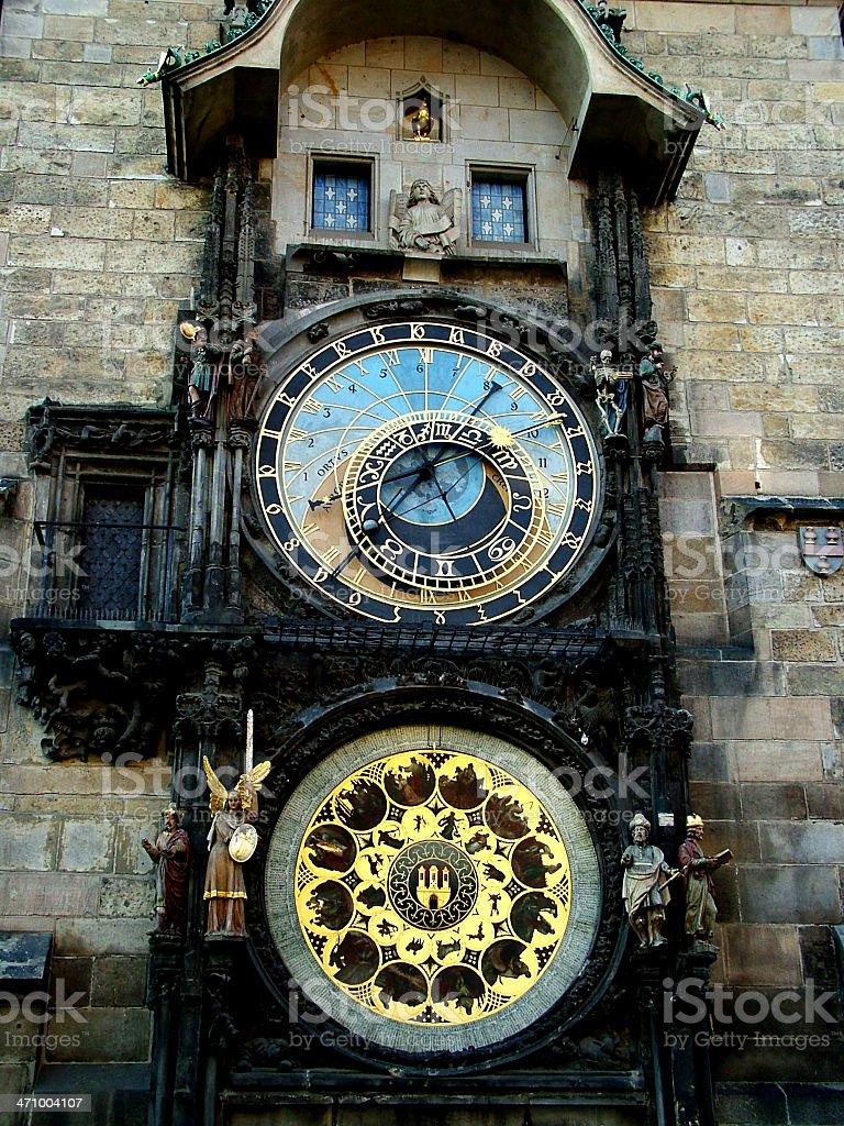 Astrological clock stock photo