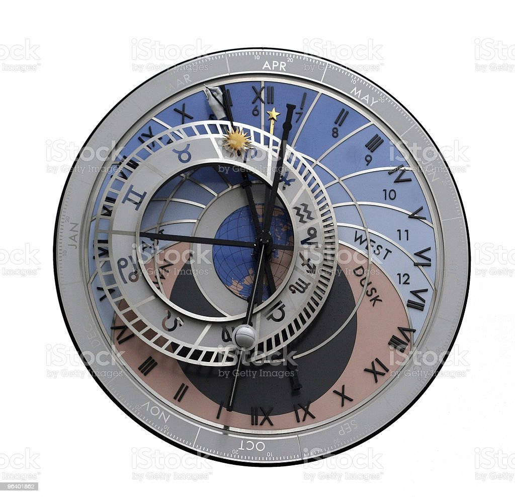 Astrological clock royalty-free stock photo