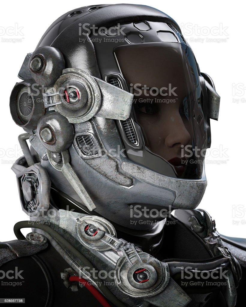 astronaut female stock photo