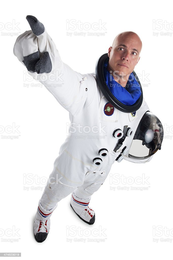 Astronaut Isolated on White royalty-free stock photo