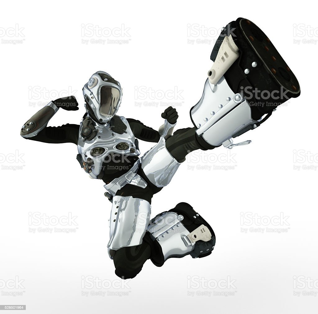 astronaut karate stock photo