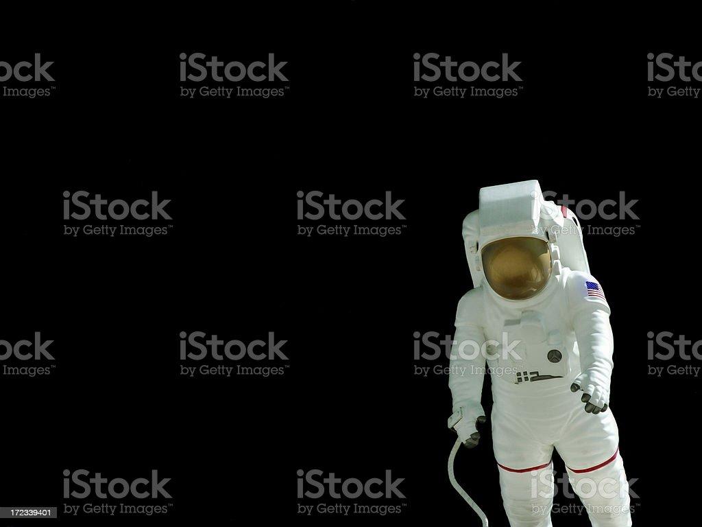 Astronaut on Black royalty-free stock photo