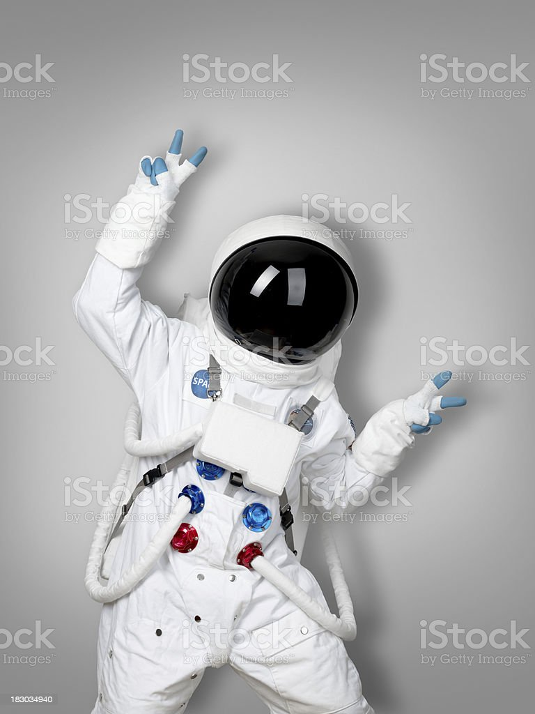 Astronaut winner stock photo