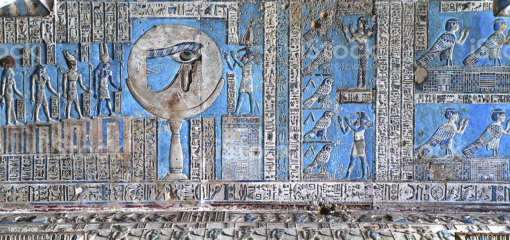 Astronomical Ceiling, Temple of Hathor Dendera, Egypt royalty-free stock photo