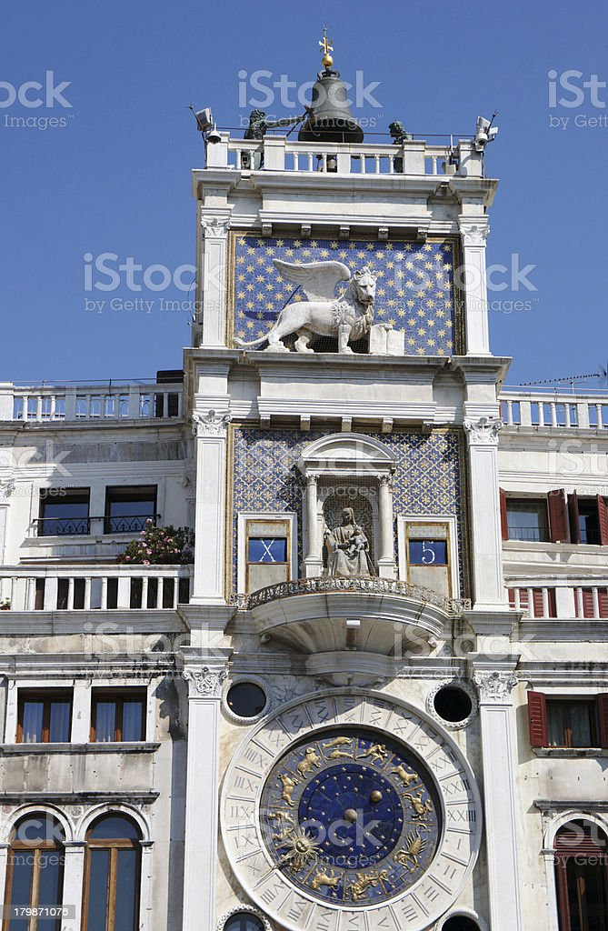 Astronomical clock at San Marco Square in Venice, Italy royalty-free stock photo
