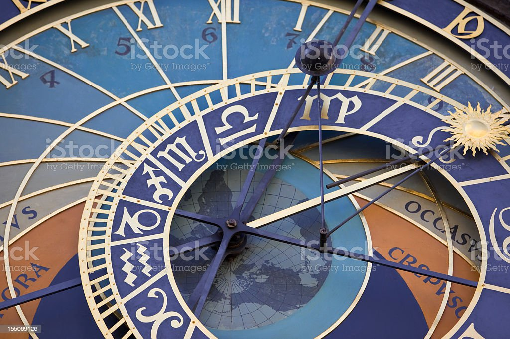 Astronomical clock in Prague Czech republic stock photo