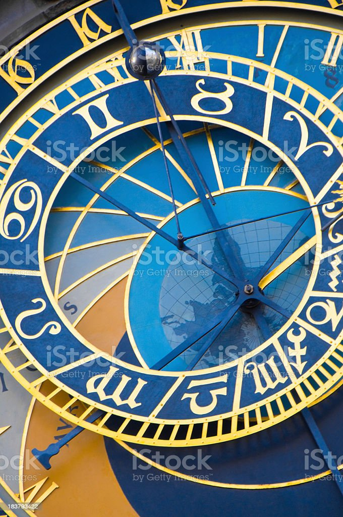 Astronomical clock in Prague, Czech Republic royalty-free stock photo