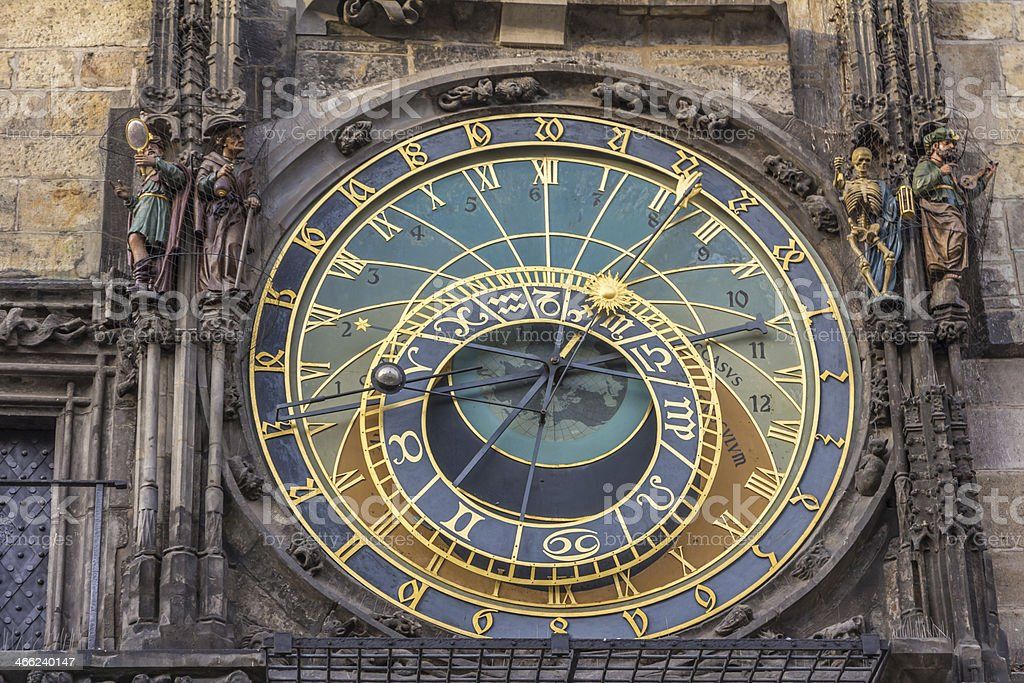 astronomical clock in prague royalty-free stock photo