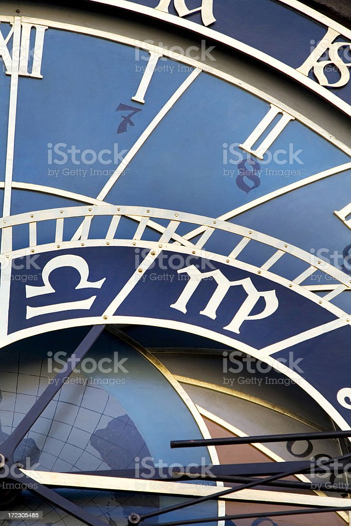 Astronomical Clock Macro Prague Czech Republic royalty-free stock photo