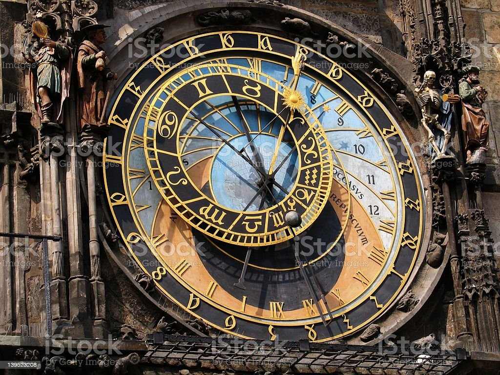 Astronomical clock, Old Town Square, Prague royalty-free stock photo