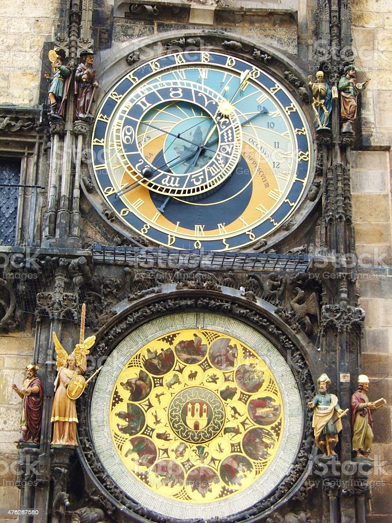 Astronomical Clock, Old Town Square, Prague stock photo