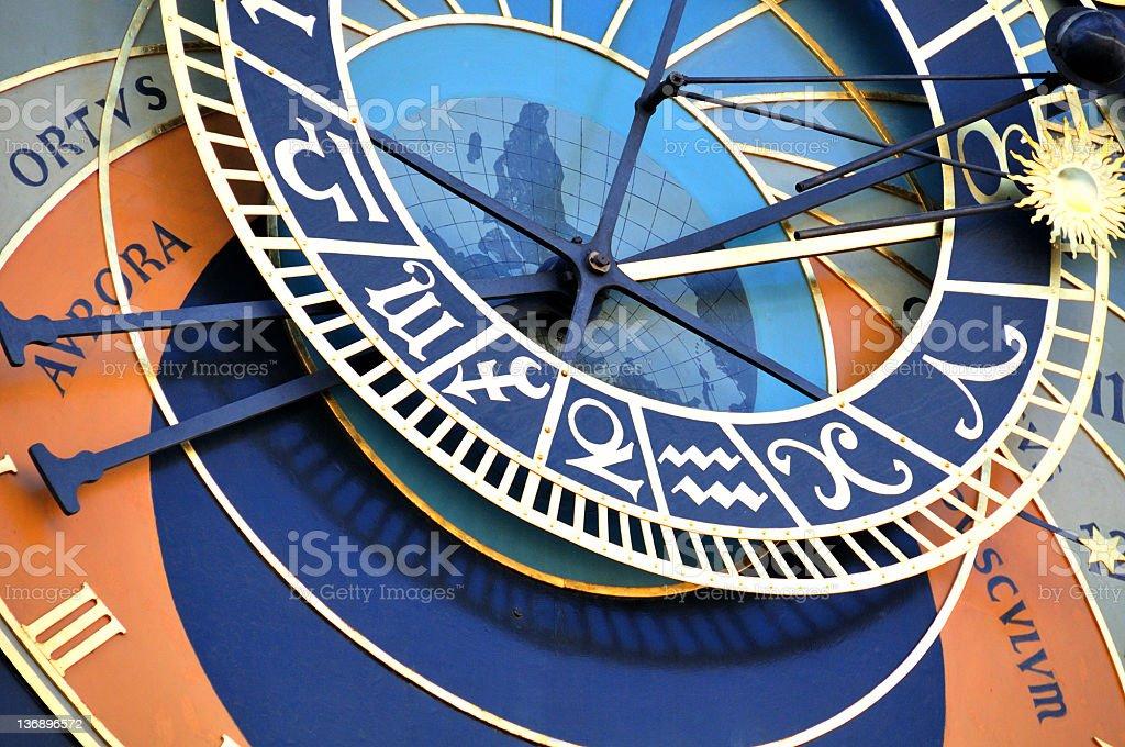 Astronomical clock, Prague royalty-free stock photo