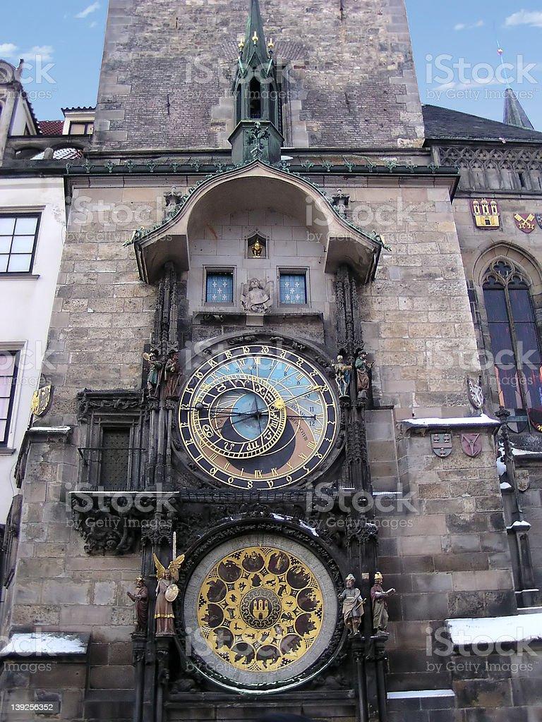 Astronomical Clock, Prague (Chech Republic) royalty-free stock photo