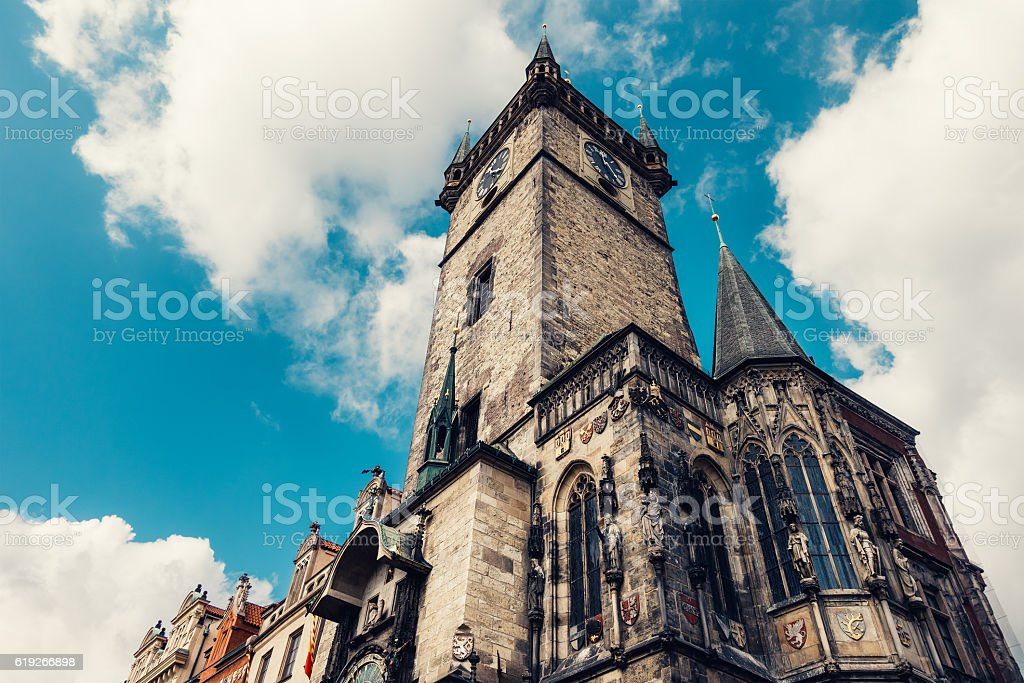 Astronomical Clock Tower In Prague stock photo