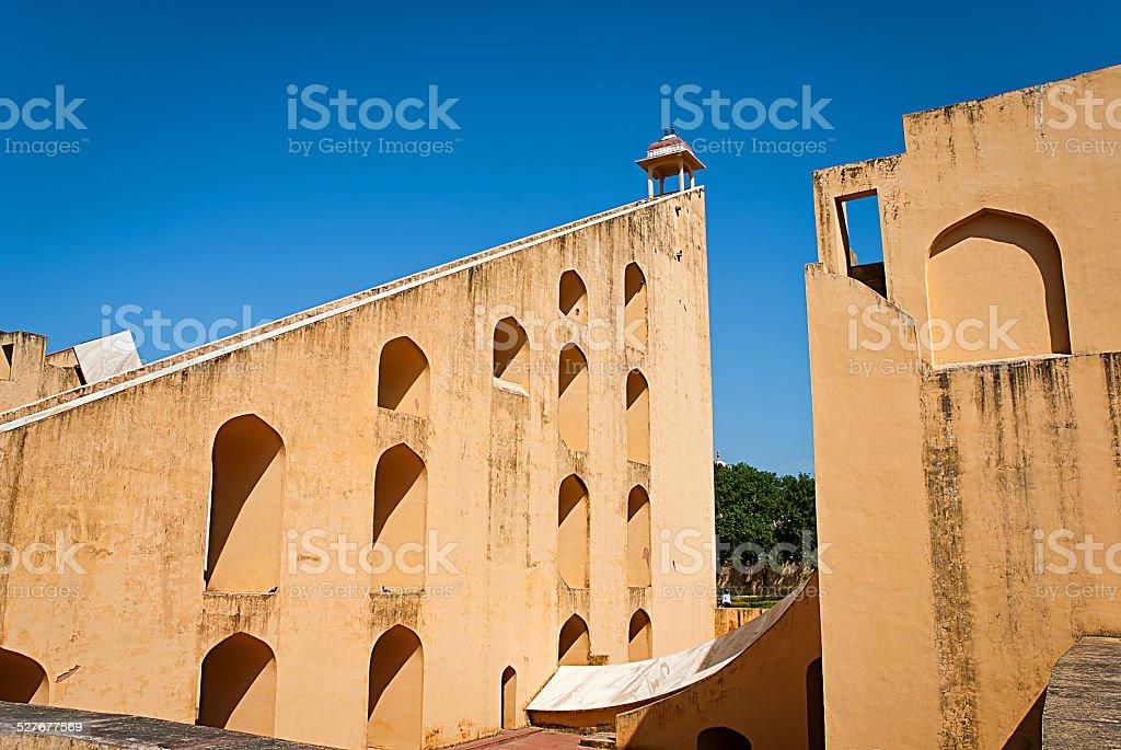 instrument astronomique de l'Observatoire Jantar Mantar, Jaipur, Inde photo libre de droits
