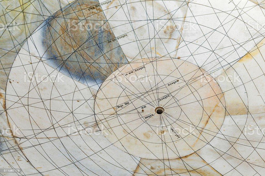 Astronomical instrument at Jantar Mantar observatory stock photo