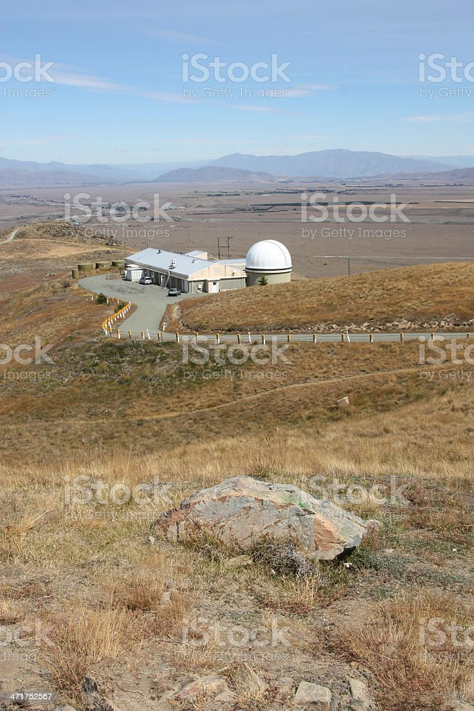 Astronomical observatory in New Zealand royalty-free stock photo