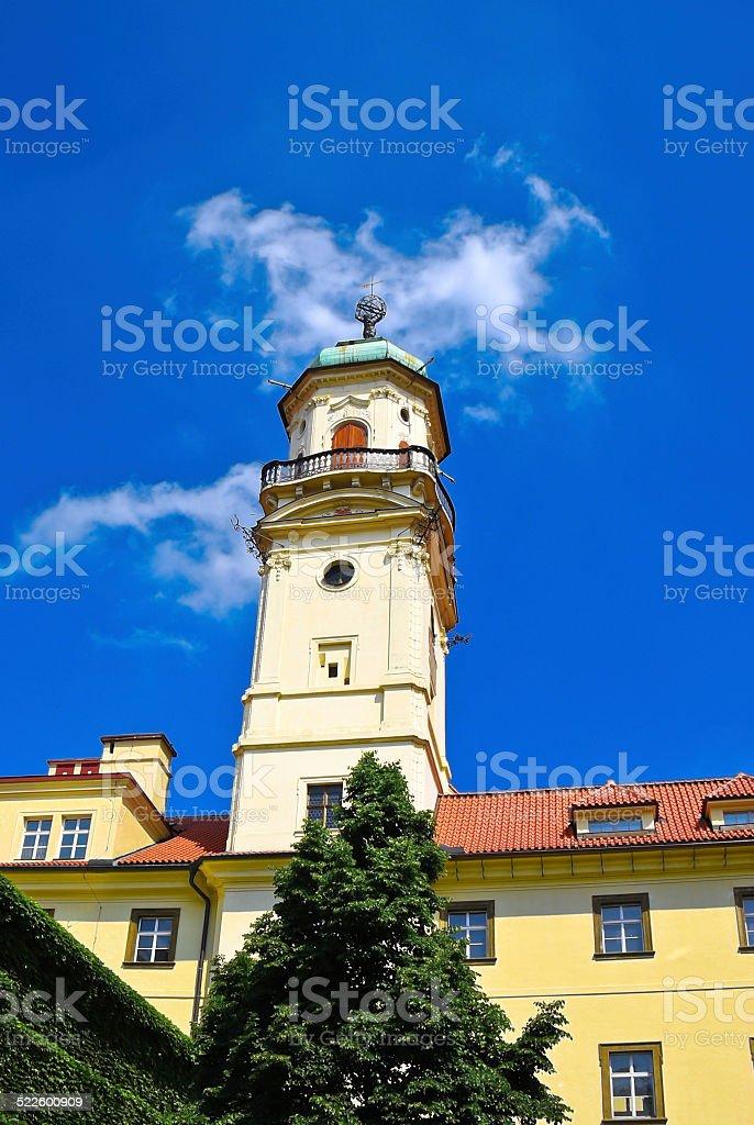 Astronomical tower, Prague stock photo