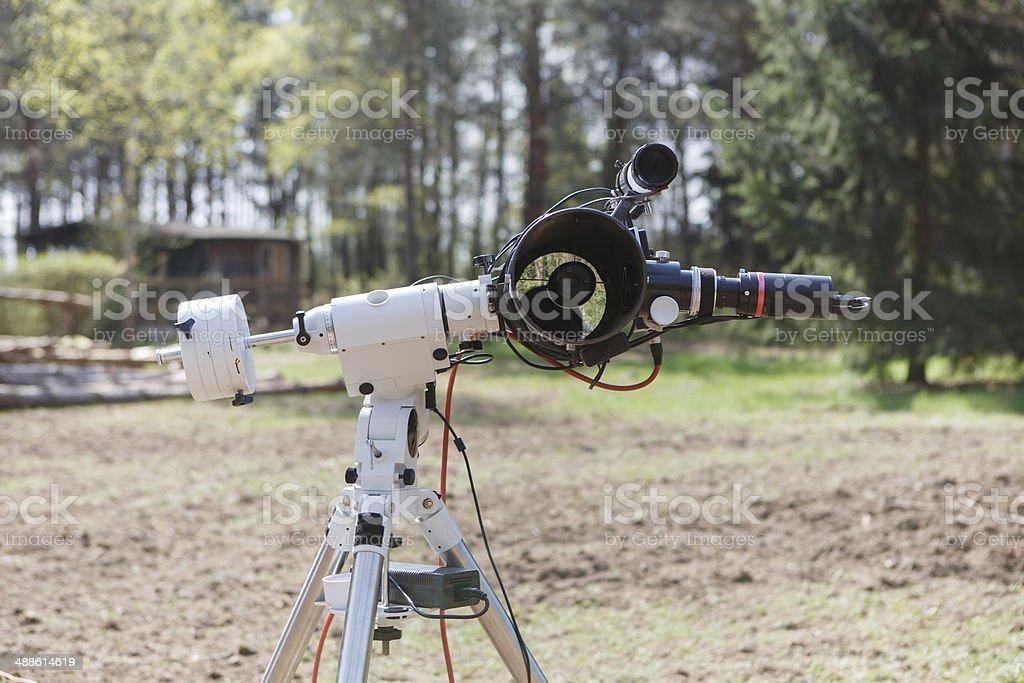 Astrophotography telescope stock photo