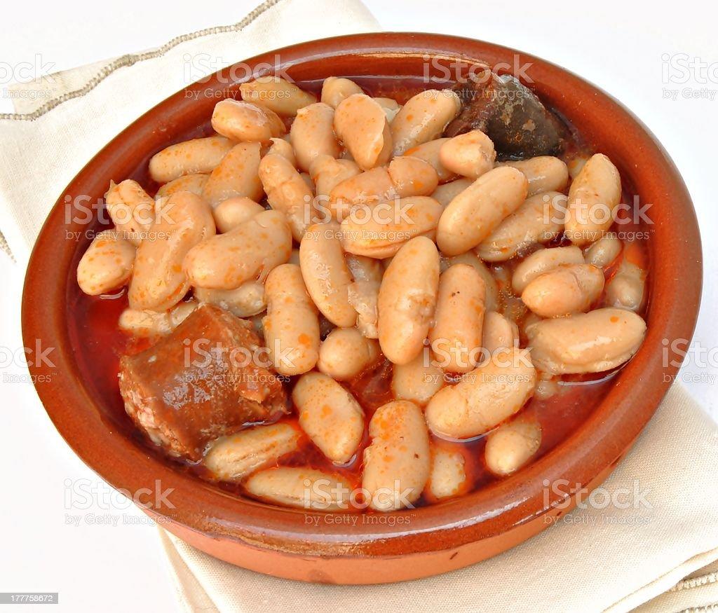 Asturian bean stock photo