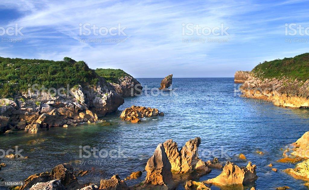 Asturian cove stock photo