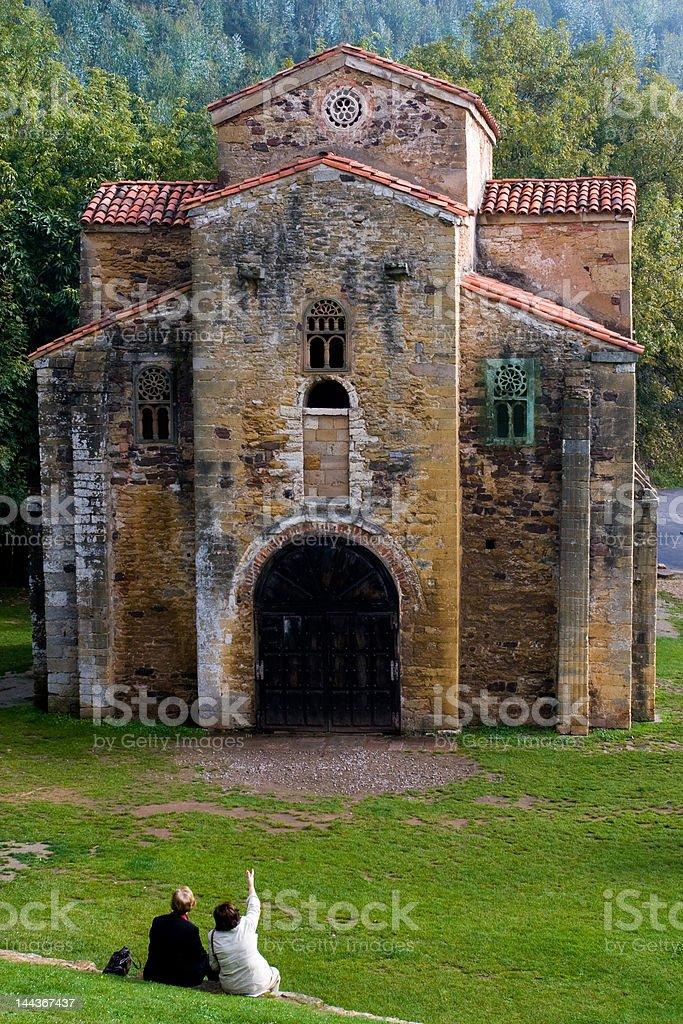 Asturian pre Romanesque stock photo