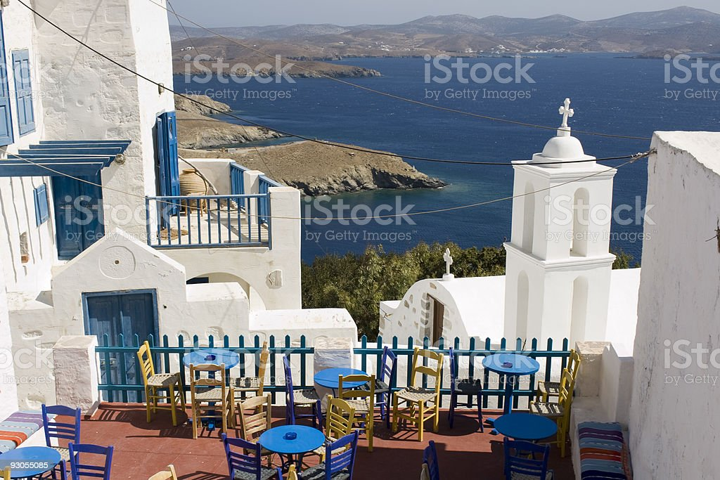 Astypalea island bar - Greece royalty-free stock photo