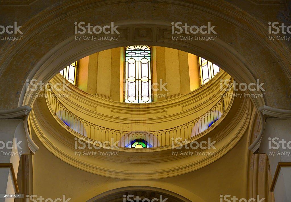 Asunción, Paraguay: dome's drum, Church of the Incarnation stock photo