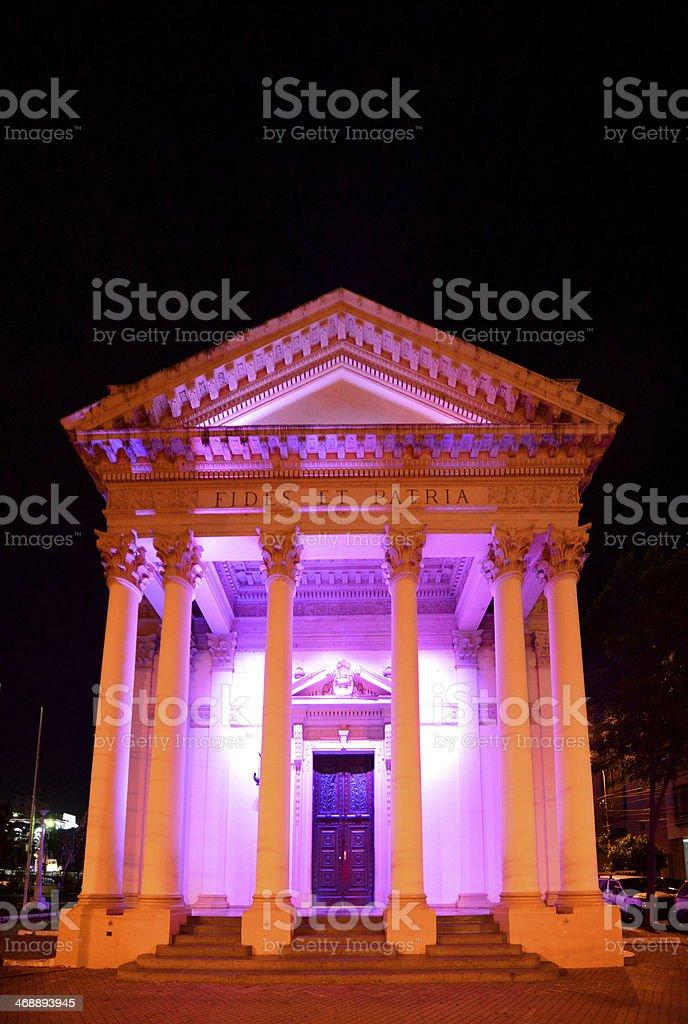 Asunci?n, Paraguay: National Pantheon at night stock photo