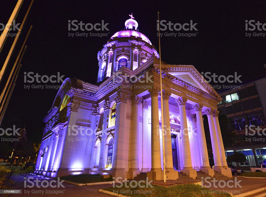 Asunci?n, Paraguay: Pantheon at night stock photo