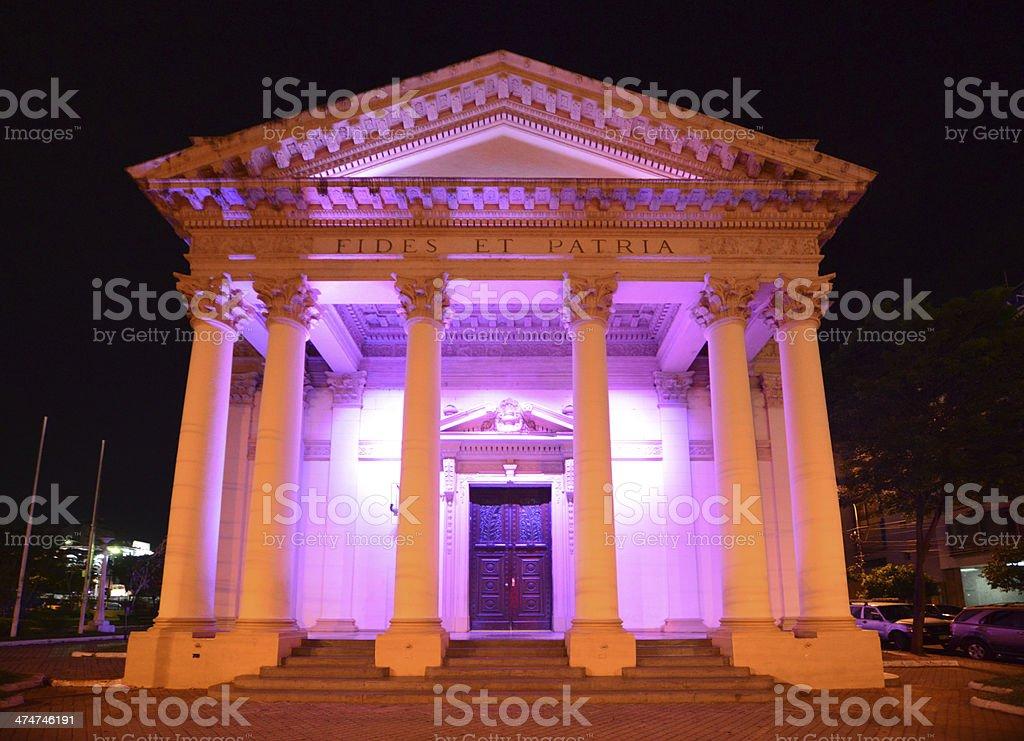 Asuncion, Paraguay: Pantheon at night stock photo