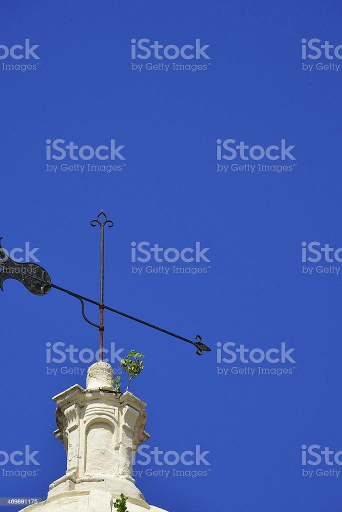 Asuncion, Paraguay: weathervane at the Cathedral stock photo