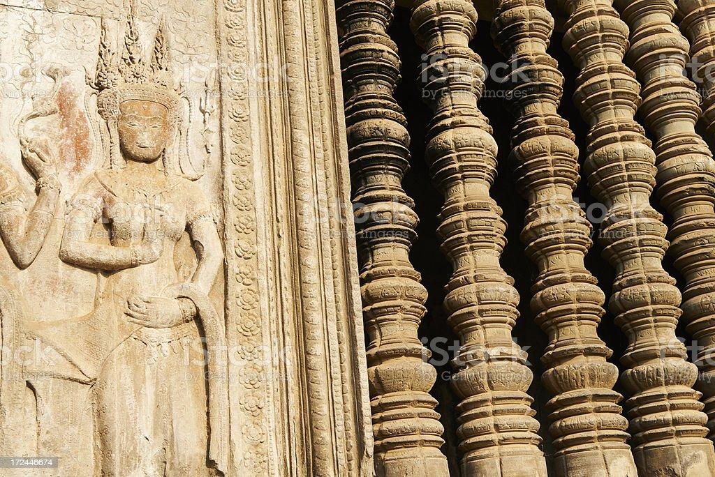 Asuras Bas Relief royalty-free stock photo