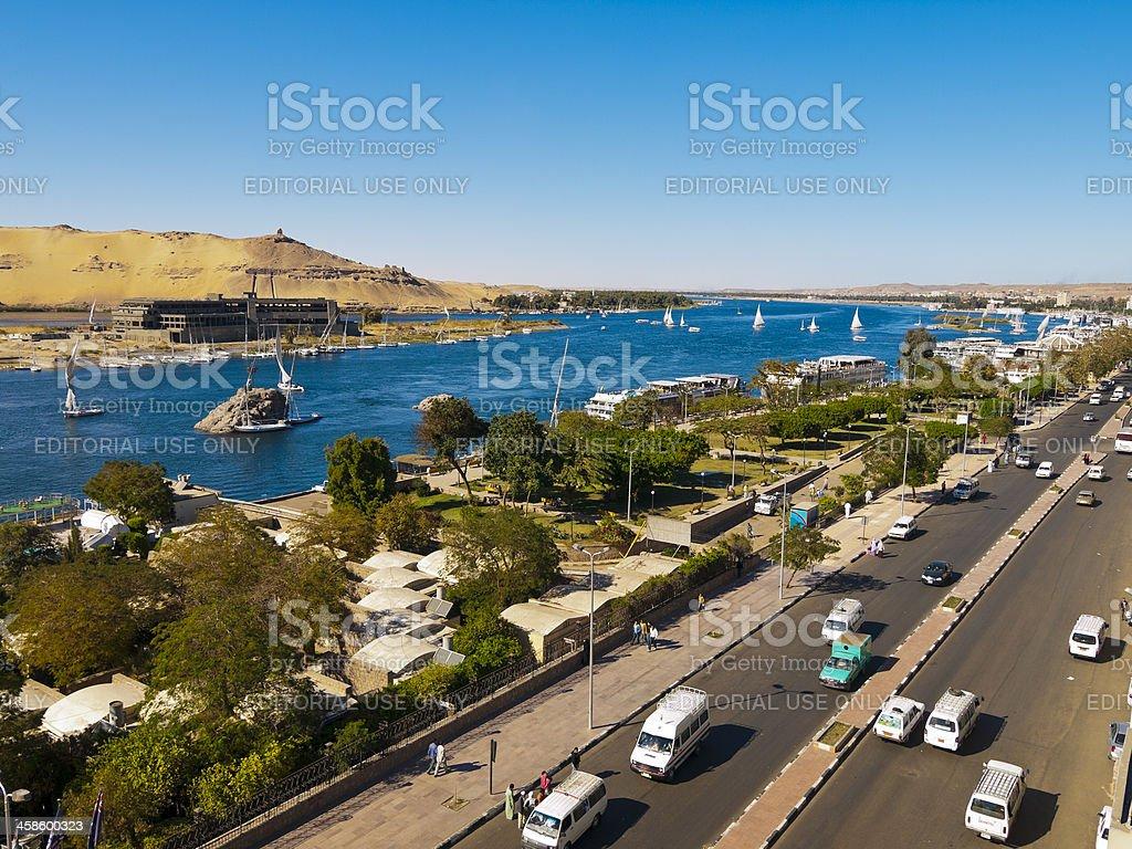 Aswan, Egypt by day stock photo