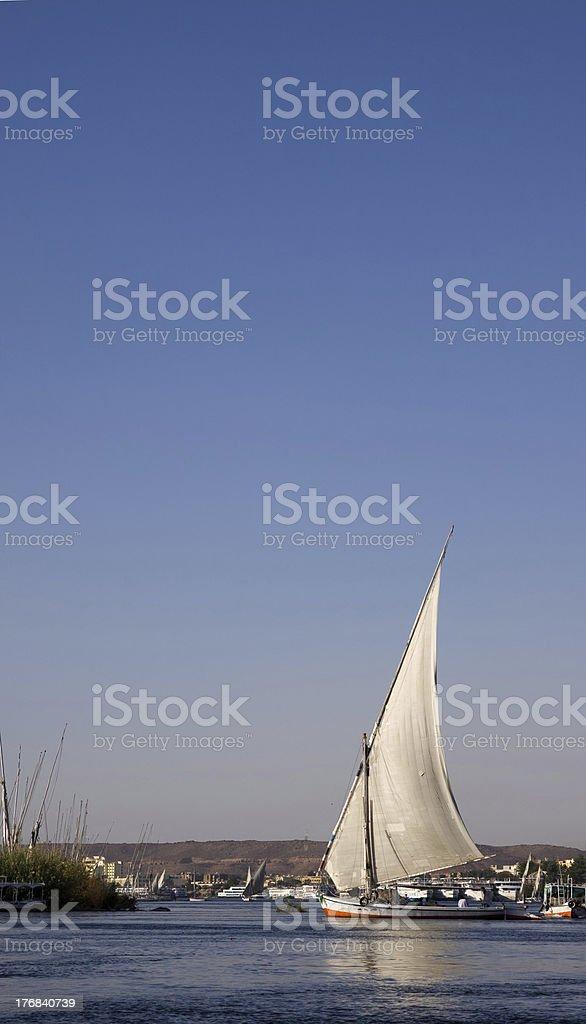 aswan felucha stock photo