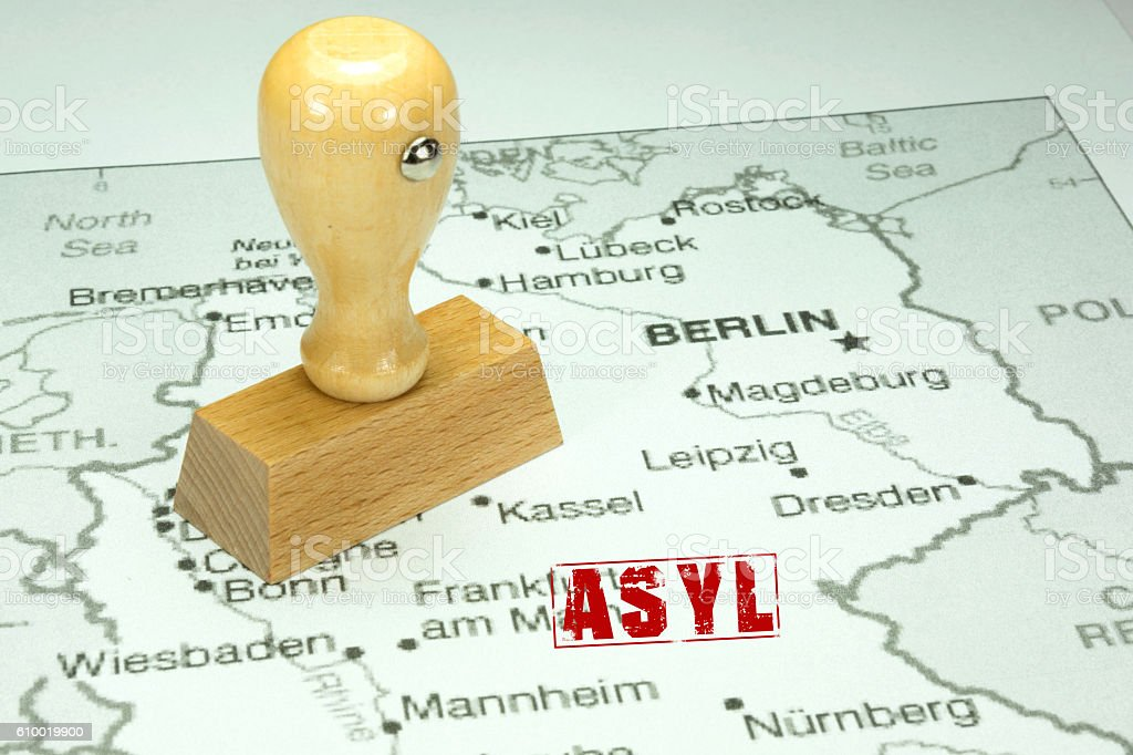 Asyl in Deutschland stock photo