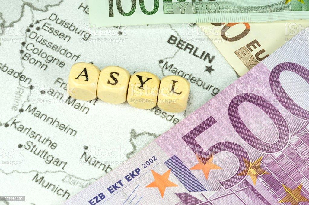 Asylkosten in Deutschland stock photo
