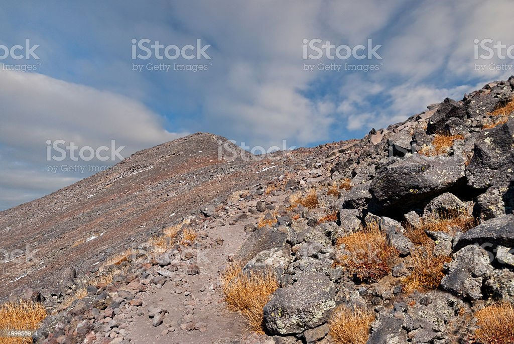 Trail to the Summit of Humphreys Peak stock photo