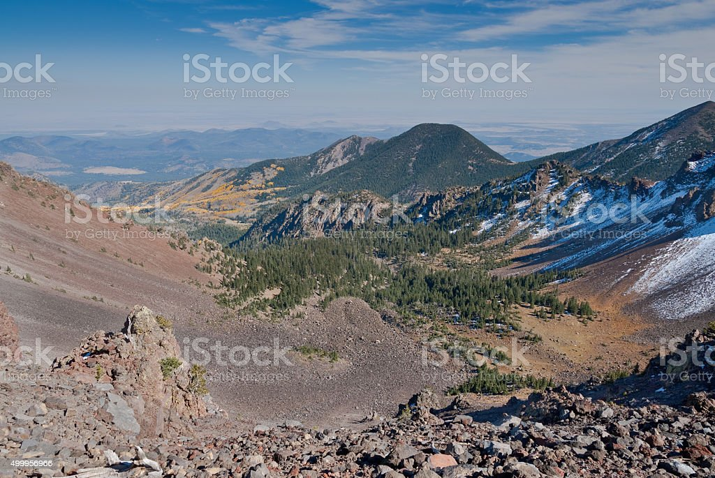 View from the Summit of Humphreys Peak stock photo