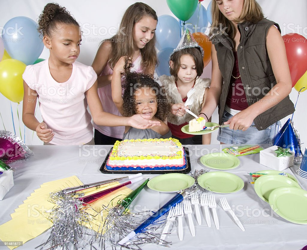 At a Birthday Party royalty-free stock photo