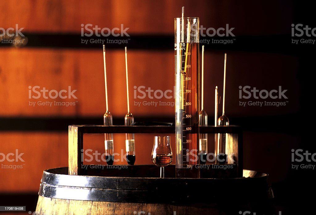 At a Brandy distillery stock photo