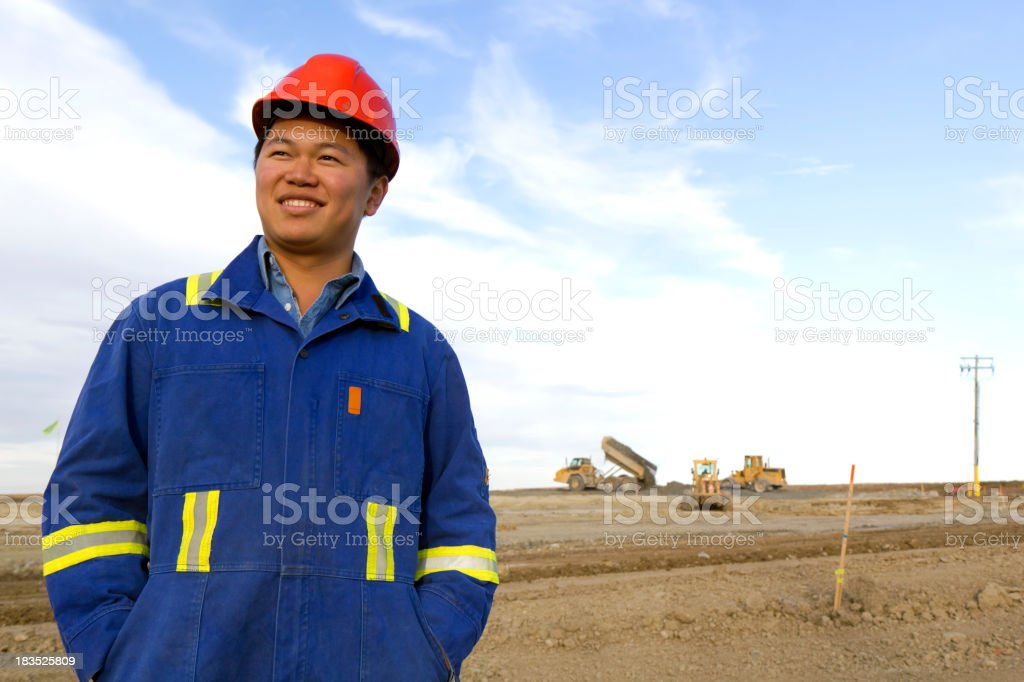 At a Construction Site royalty-free stock photo