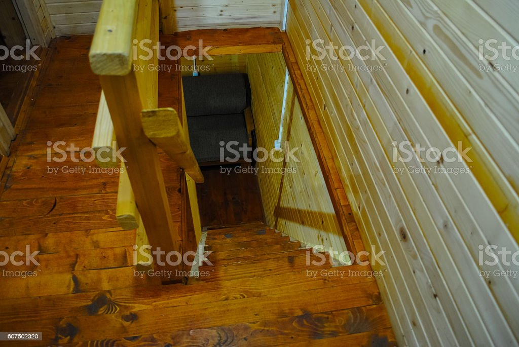 At a modern construction rate used wooden beams stock photo