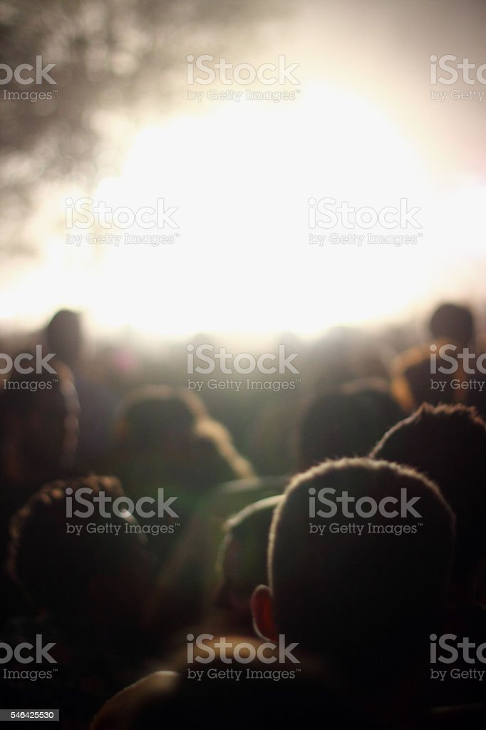 At a music concert stock photo
