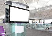 LCD TV at airport